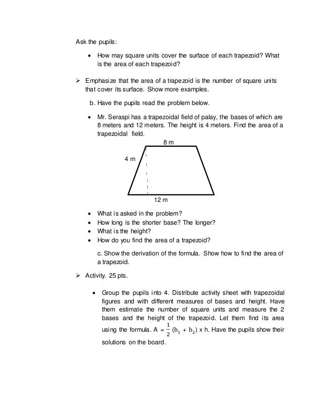 how to get the area of a trapezoid