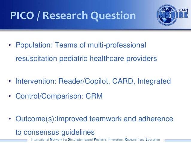 • Population: Teams of multi-professional resuscitation pediatric healthcare providers • Intervention: Reader/Copilot, CAR...