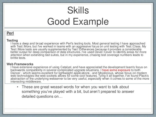 skills good example - Examples Of Good Skills To Put On A Resume