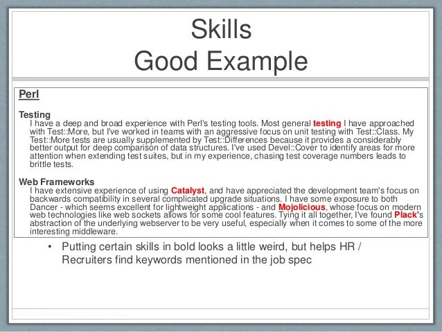 skills to put in resumes