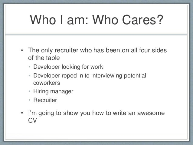 How to write a Developer CV/Résumé that will get you hired