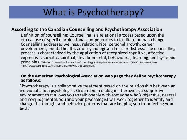 what is psychotherapy in psychology