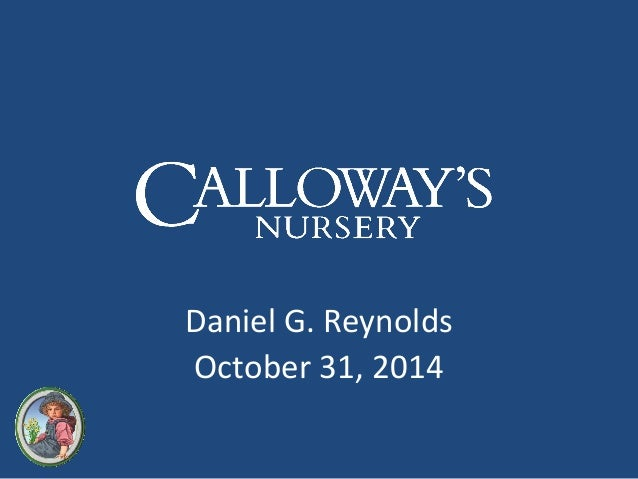 Daniel G. Reynolds  October 31, 2014