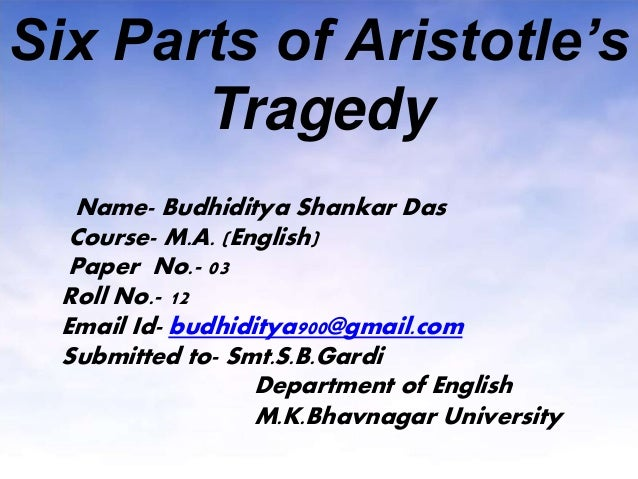 aristotles definition of tragedy explanation