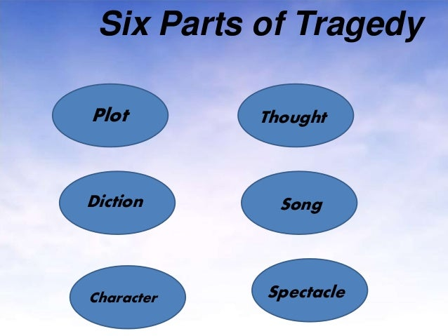 the important aspects of tragedy according to aristotle According to aristotle's poetics, the plot must contain three basic elements: a  unity of plot, peripety and discovery unity of plot means all.