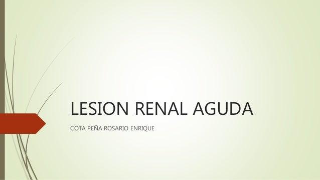 LESION RENAL AGUDA COTA PEÑA ROSARIO ENRIQUE