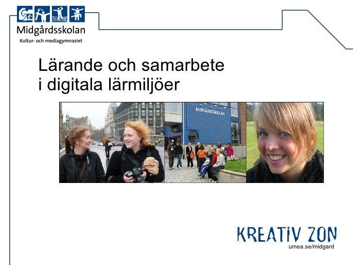 Lärande och samarbete  i digitala lärmiljöer