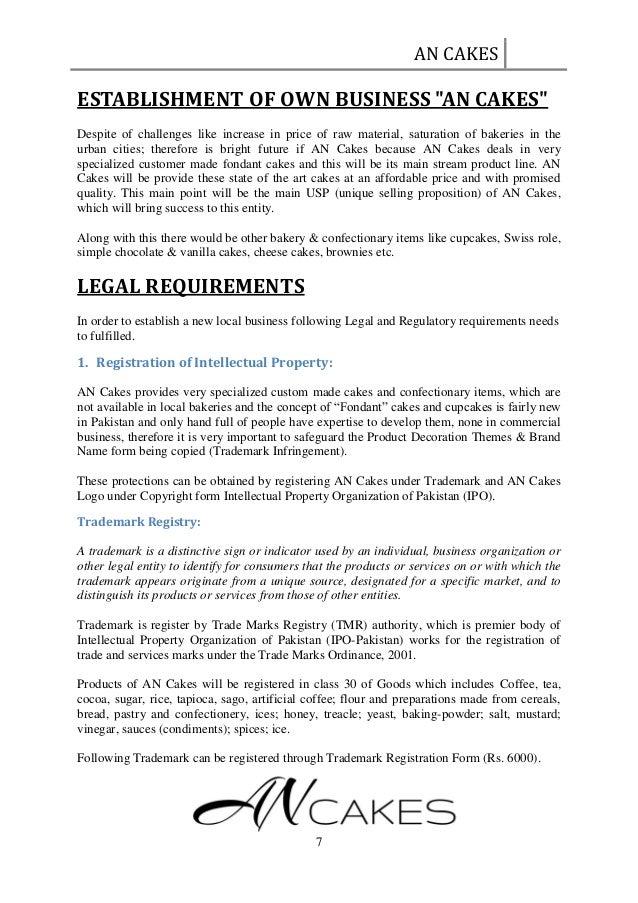 Establishing A Seasonal Capsule Part 1: LEGAL OBLIGATIONS & REQUIREMENTS FOR ESTABLISHING A Bakery