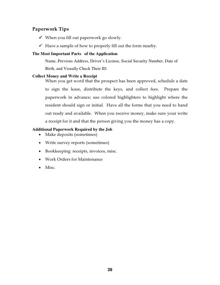 apartment-manager-training-39-728 Sample Application Letter For A Security Driver on for ojt students, high school, email job, for training, example for, summer job, college admission,