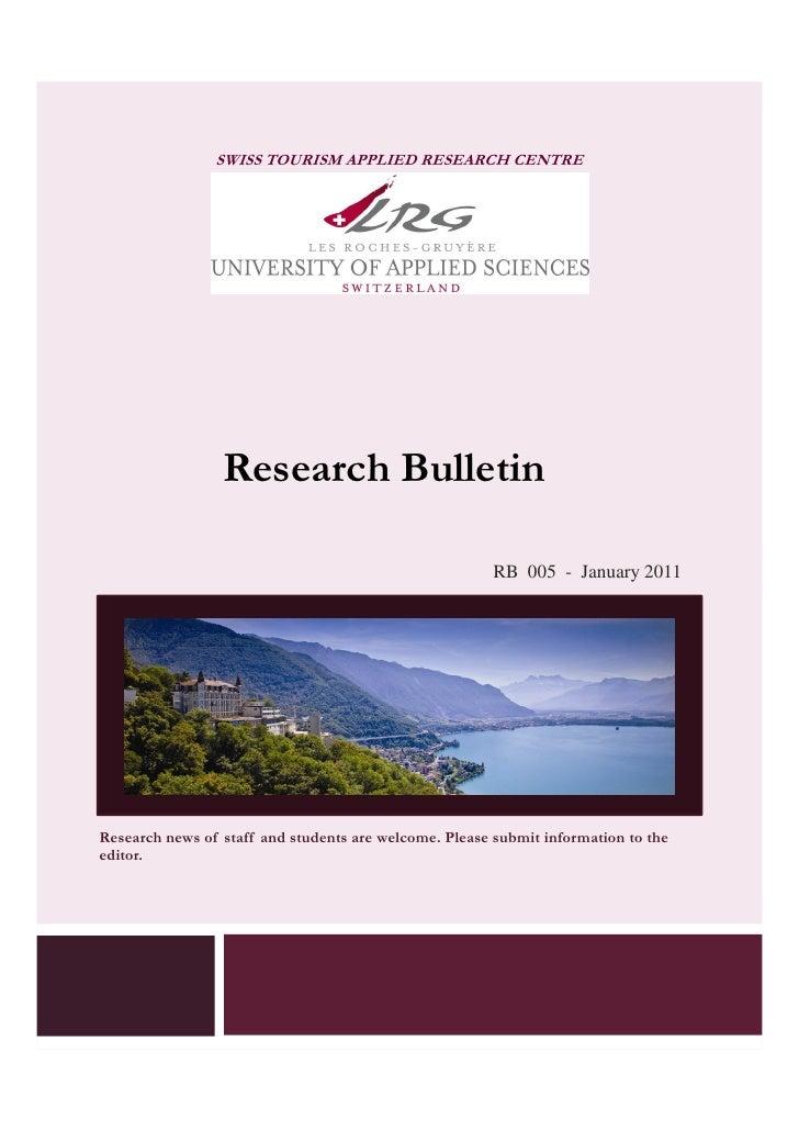 LRG - UAS   Research Bulletin January 2011