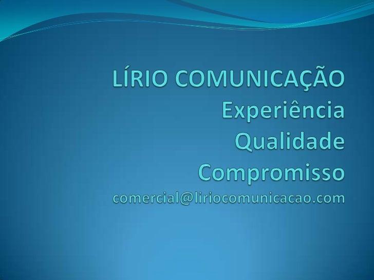 Lírio comunicação
