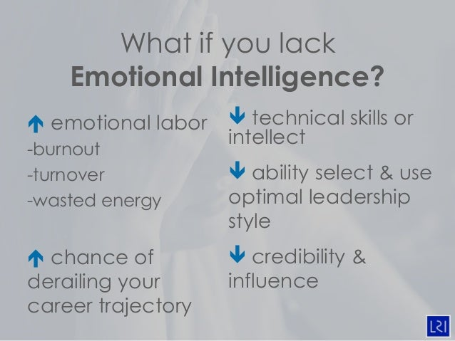 emotional intelligence and leadership Daniel goleman's leadership: the power of emotional intelligence is the  author's first comprehensive collection of his key findings on leadership.