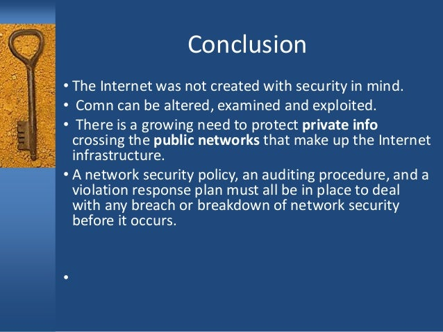 network security firewalls essay Network level security, using a firewall • operating system security, using sandboxing to iso- late programs this can be done by a base os like windows 2000 or unix, or by a higher-level os like a java vm • application level security that checks authorization directly the idea is that it will be hard for an attacker to simulta.