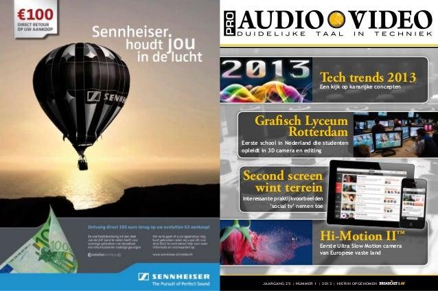 Tech trends 2013                              Een kijk op kansrijke concepten    Grafisch Lyceum          RotterdamEerste ...