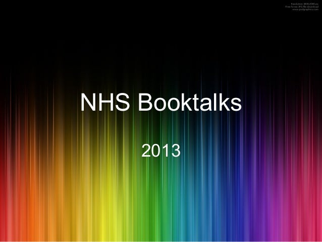 NHS Booktalks2013