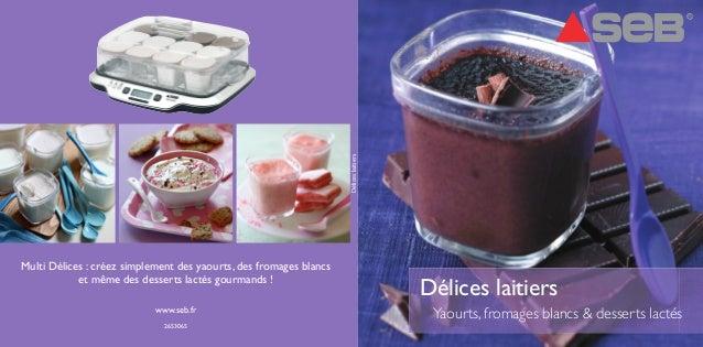 Délices laitiers  Délices laitiers  Yaourts, fromages blancs & desserts lactés  Multi Délices : créez simplement des yaour...