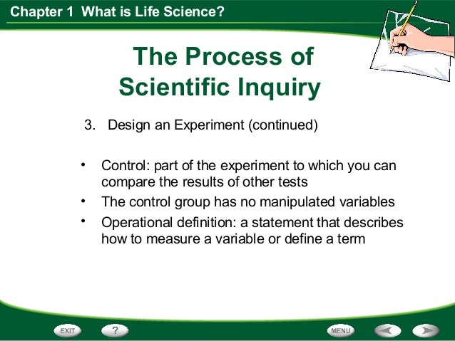 Life Science Chapter 1 Section 3 Scientific Inquiry