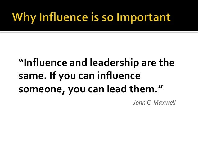 Building Influence without Authority