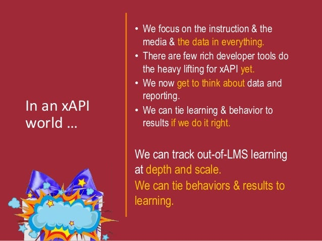Xapi What Does An Instructional Designer Need To Know