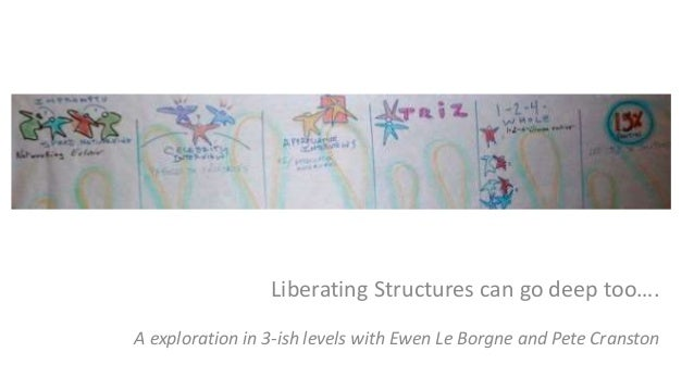 Liberating Structures can go deep too…. A exploration in 3-ish levels with Ewen Le Borgne and Pete Cranston