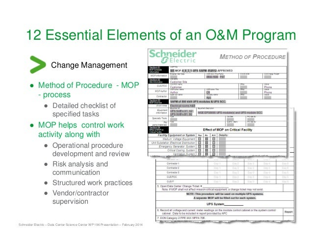 Essential Elements Of Data Center Facility Operat