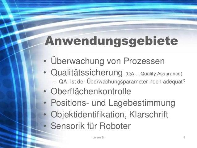 Industrielle Bildverarbeitung - Kurzeinführung Slide 2