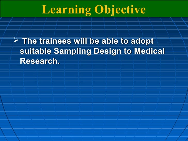 what are sampling methods in research