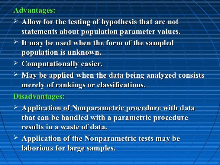 nonparametric hypothesis testing essay Choosing between a nonparametric test and a hypothesis tests of the mean nonparametric tests have less power to begin with and it's a double.