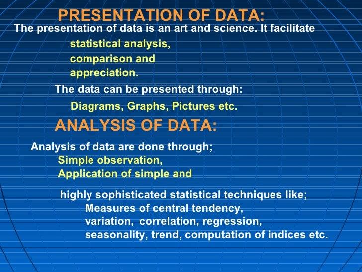 presentation data analysis thesis