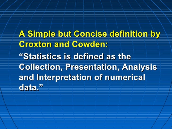 biostatistics concept amp definition
