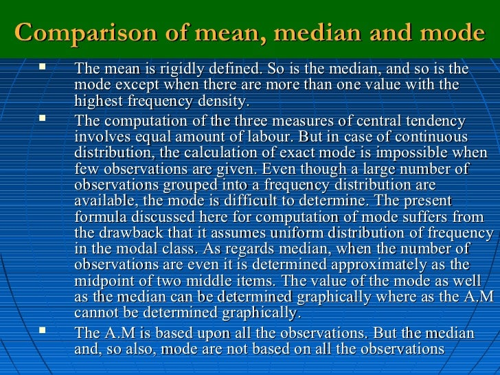 Worksheet Difference Arithmetic Mean Mode Median measures of central tendency comparison mean median and mode