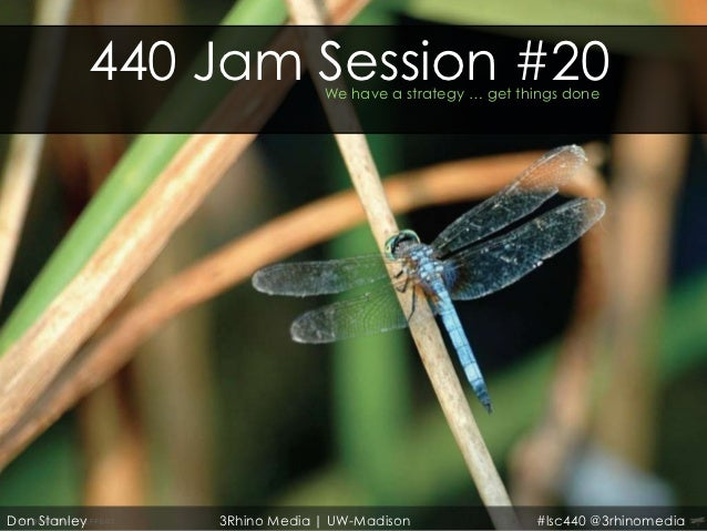 440 Jam Session #20                               We have a strategy … get things doneDon Stanley       3Rhino Media   UW-...