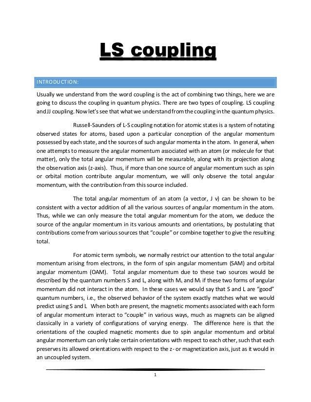 LS AND JJ COUPLING PDF