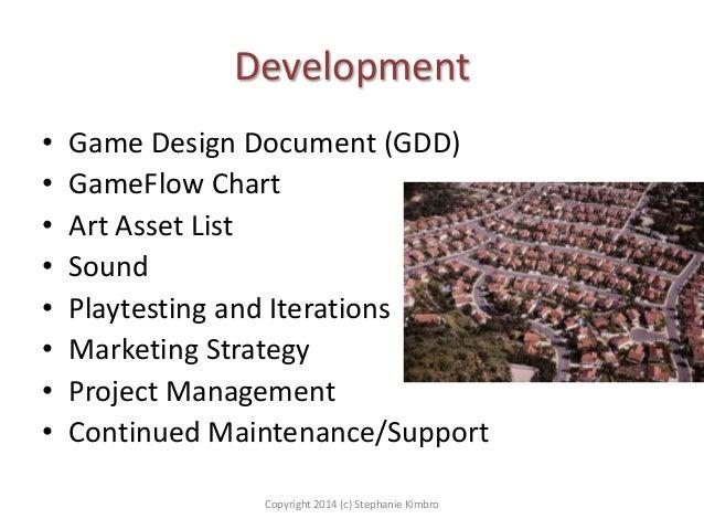 Development • • • • • • • •  Game Design Document (GDD) GameFlow Chart Art Asset List Sound Playtesting and Iterations Mar...