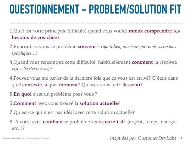 Alexia van Schaardenburg 2017 - www.alexia-vs.fr/business QUESTIONNEMENT - PROBLEM/SOLUTION FIT 1.Quel est votre principal...