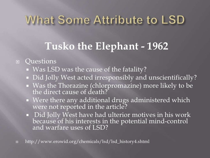lsd presentation Lsd 1 lsd mike scola drugs and society 2 what is lsd lsd (d-lysergic acid diethylamide) is one of the most potent mood-changing chemicals it is also a potent hallucinogenic drug it was discovered in 1938 and is manufactured from lysergic acid, which is found in ergot, a fungus that grows on.