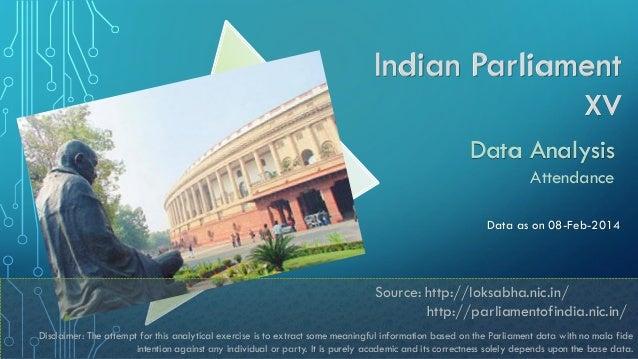 Indian Parliament XV Data Analysis Attendance Data as on 08-Feb-2014  1 Source: http://loksabha.nic.in/ http://parliamento...
