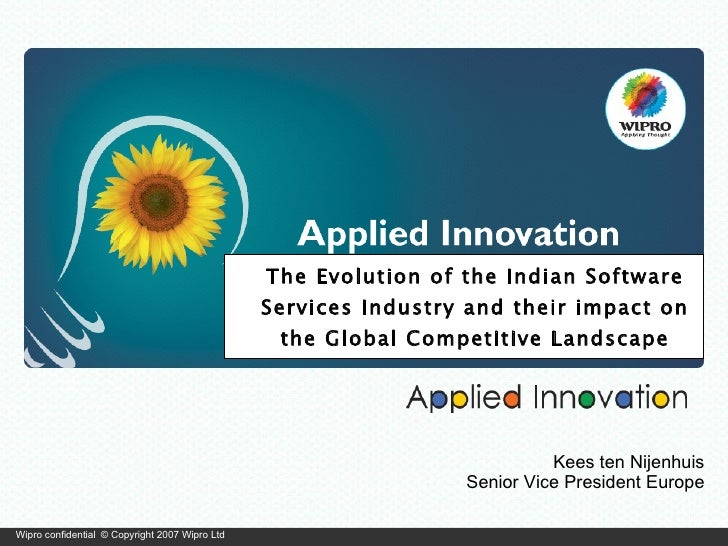 The Evolution of the Indian Software Services Industry and their impact on the Global Competitive Landscape Kees ten Nijen...