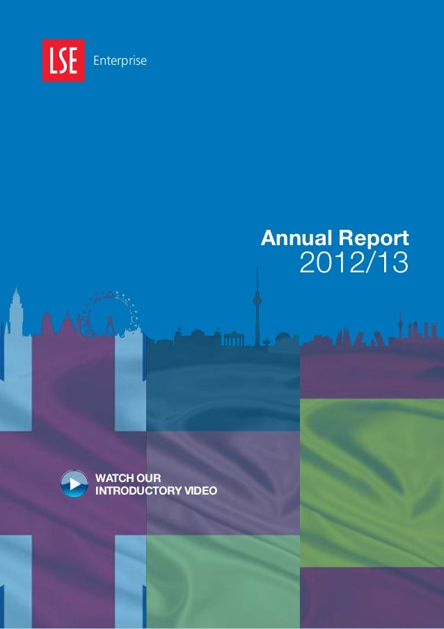 Enterprise  Annual Report  2012/13  WATCH OUR INTRODUCTORY VIDEO