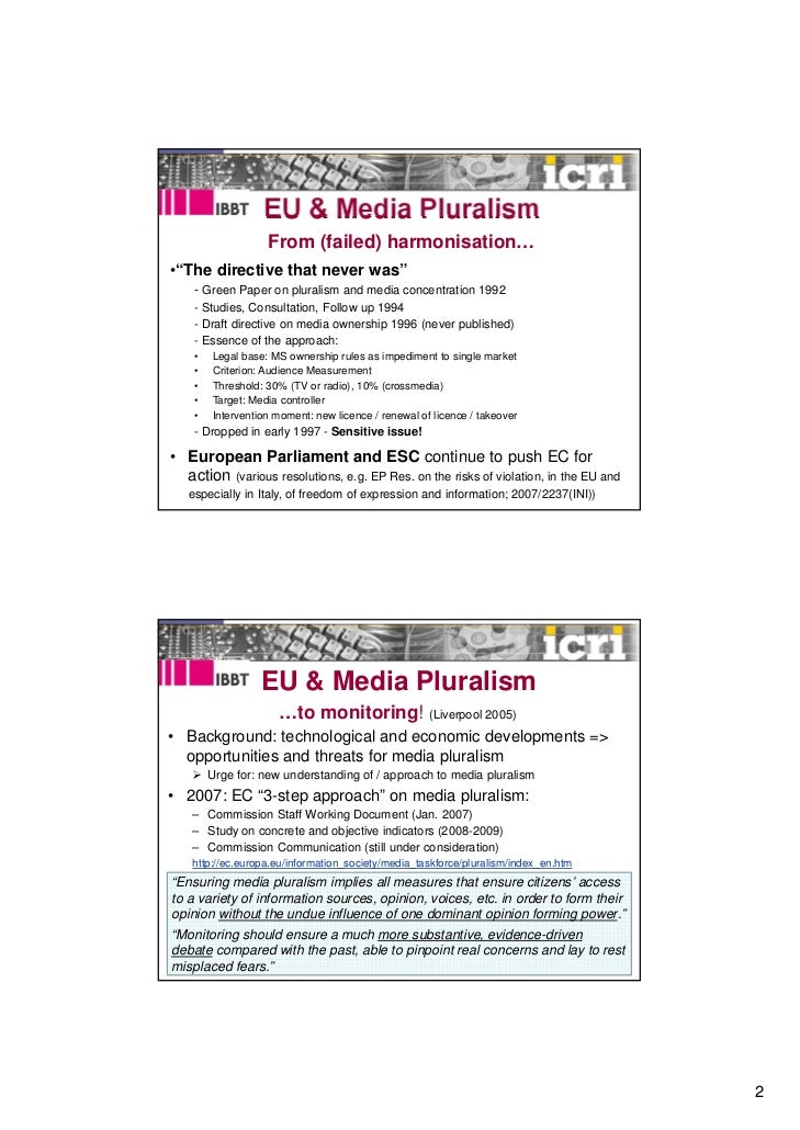Valcke_LSE_expertworkshop_Plurality_march2011 Slide 2