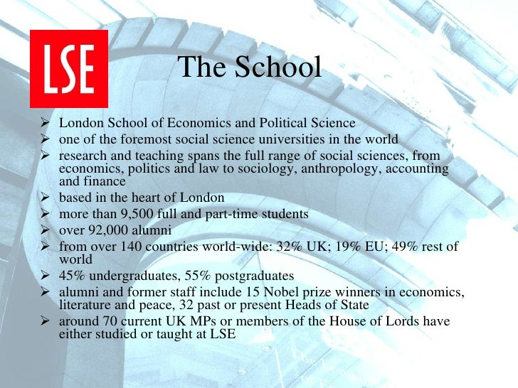 lse economics and management personal statement A transformational programme for working professionals at the london school of economics executive msc in  governance and management  personal statement: .