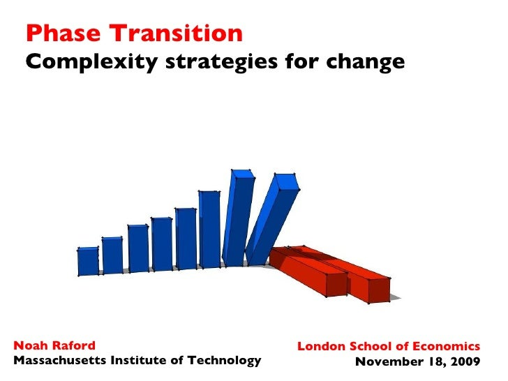 Phase Transition Complexity strategies for change Noah Raford Massachusetts Institute of Technology London School of Econo...