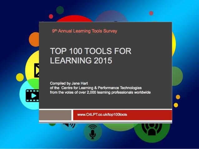 """A  learning  tool  is      """"any  so@ware  or  online  tool  or   service  that  can  be  use..."""