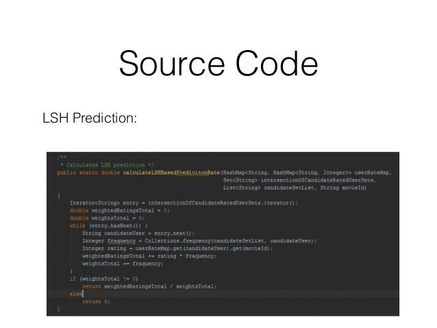 Source Code LSH Prediction: