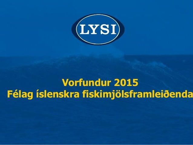 Vorfundur 2015 Félag íslenskra fiskimjölsframleiðenda