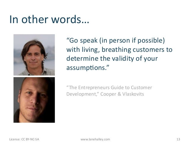 """In other words…                                              """"Go speak (in person if possible)          ..."""