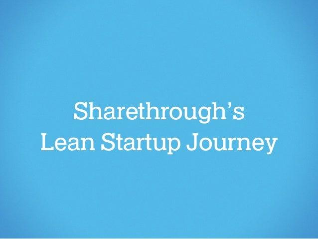 Sharethrough'sLean Startup Journey