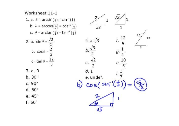 Trig Equations Worksheet 5 1 Answers - Tessshebaylo