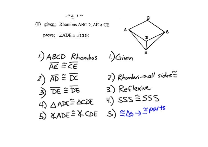 Lsn 11-8: Proving a Rhombus/Rectangle