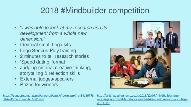 """2018 #Mindbuilder competition • """"I was able to look at my research and its development from a whole new dimension."""" • Iden..."""